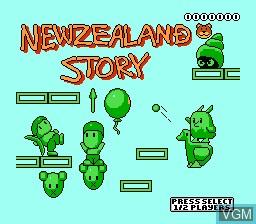 Image de l'ecran titre du jeu New Zealand Story, The sur Nintendo NES