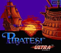 Image de l'ecran titre du jeu Pirates! sur Nintendo NES