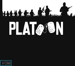 Image de l'ecran titre du jeu Platoon sur Nintendo NES