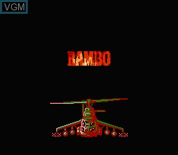 Image de l'ecran titre du jeu Rambo - First Blood Part II sur Nintendo NES