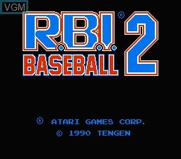 Image de l'ecran titre du jeu R.B.I. Baseball 2 sur Nintendo NES