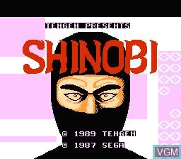 Image de l'ecran titre du jeu Shinobi sur Nintendo NES