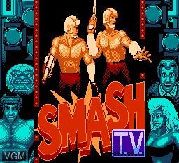 Image de l'ecran titre du jeu Smash T.V. sur Nintendo NES