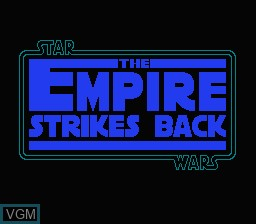 Image de l'ecran titre du jeu Star Wars - The Empire Strikes Back sur Nintendo NES