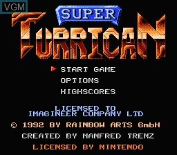 Image de l'ecran titre du jeu Super Turrican sur Nintendo NES