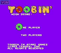 Image de l'ecran titre du jeu Toobin' sur Nintendo NES