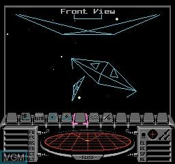 Image du menu du jeu Elite sur Nintendo NES