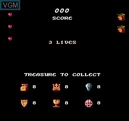 Image du menu du jeu Super Robin Hood sur Nintendo NES