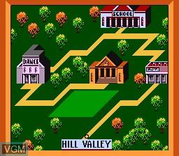 Image du menu du jeu Back to the Future sur Nintendo NES