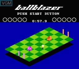 Image du menu du jeu Ballblazer sur Nintendo NES