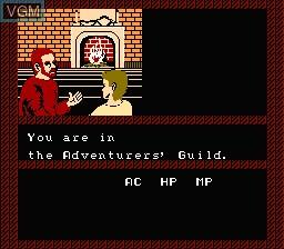 Image du menu du jeu Bard's Tale, The - Tales of the Unknown sur Nintendo NES