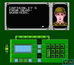 Image du menu du jeu Bionic Commando sur Nintendo NES
