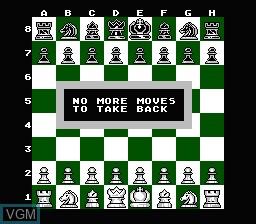 Image du menu du jeu Chessmaster, The sur Nintendo NES