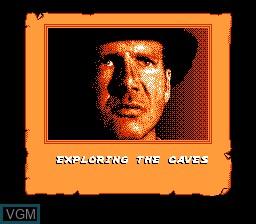 Image du menu du jeu Indiana Jones and the Last Crusade sur Nintendo NES