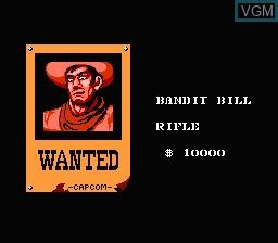 Image du menu du jeu Gun.Smoke sur Nintendo NES