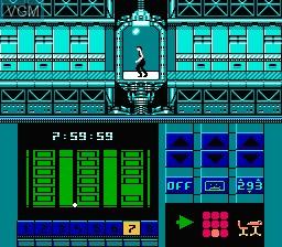 Image du menu du jeu Impossible Mission II sur Nintendo NES