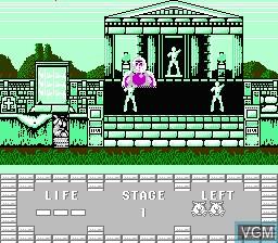 Image du menu du jeu Juuouki sur Nintendo NES