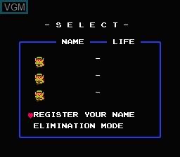 Image du menu du jeu Legend of Zelda, The sur Nintendo NES
