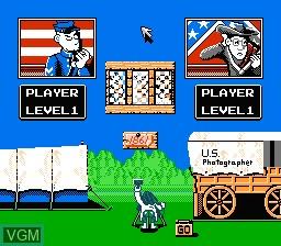 Image du menu du jeu North & South sur Nintendo NES