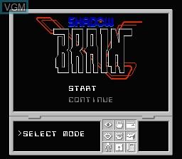 Image du menu du jeu Shadow Brain sur Nintendo NES