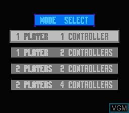 Image du menu du jeu Smash T.V. sur Nintendo NES
