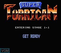 Image du menu du jeu Super Turrican sur Nintendo NES