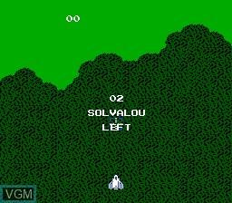 Image du menu du jeu Super Xevious - Gump no Nazo sur Nintendo NES