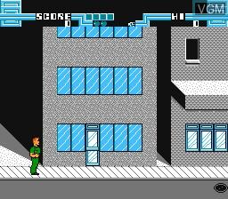 Image du menu du jeu Total Recall sur Nintendo NES