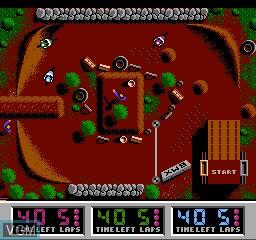 Image in-game du jeu BMX Simulator sur Nintendo NES