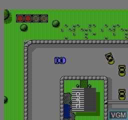 Image in-game du jeu Super Cars sur Nintendo NES