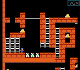 Image in-game du jeu Championship Lode Runner sur Nintendo NES