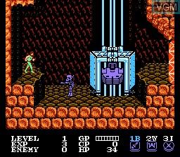 Image in-game du jeu Cosmo Police Galivan sur Nintendo NES