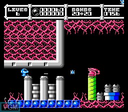 Image in-game du jeu Cybernoid - The Fighting Machine sur Nintendo NES