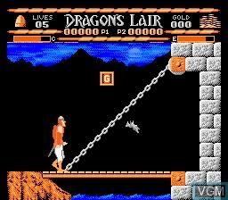 Image in-game du jeu Dragon's Lair sur Nintendo NES