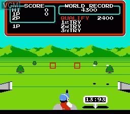 Image in-game du jeu Hyper Sports sur Nintendo NES