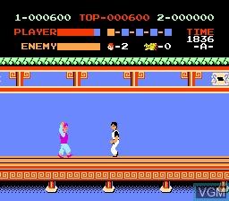 Image in-game du jeu Kung Fu sur Nintendo NES