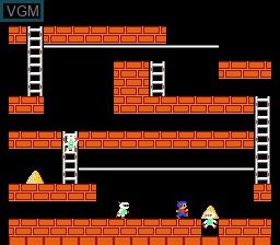 Image in-game du jeu Lode Runner sur Nintendo NES