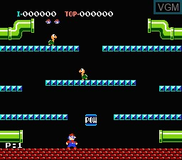 Image in-game du jeu Mario Bros. sur Nintendo NES