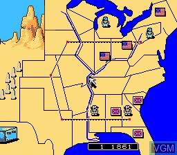 Image in-game du jeu North & South sur Nintendo NES