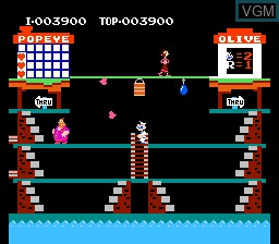 Image in-game du jeu Popeye sur Nintendo NES