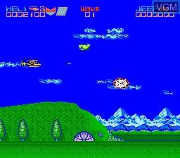 Image in-game du jeu Silkworm sur Nintendo NES