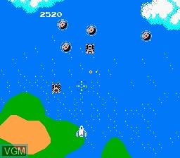 Image in-game du jeu Super Xevious - Gump no Nazo sur Nintendo NES