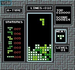 Image in-game du jeu Tetris sur Nintendo NES