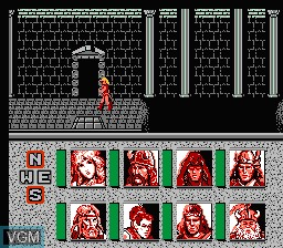 Image in-game du jeu Advanced Dungeons & Dragons - Heroes of the Lance sur Nintendo NES