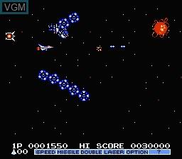 Image in-game du jeu Gradius II sur Nintendo NES
