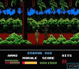 Image in-game du jeu Platoon sur Nintendo NES