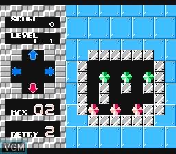 Image in-game du jeu Puzznic sur Nintendo NES