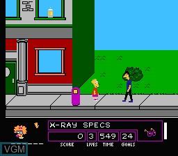 Image in-game du jeu Simpsons, The - Bart Vs. the Space Mutants sur Nintendo NES