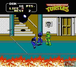 Image in-game du jeu Teenage Mutant Ninja Turtles II - The Arcade Game sur Nintendo NES