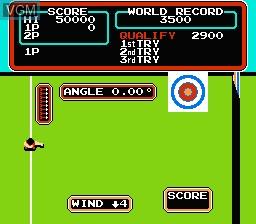 Image in-game du jeu Track & Field sur Nintendo NES